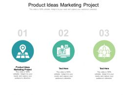 Product Ideas Marketing Project Ppt Powerpoint Presentation Gallery Grid Cpb