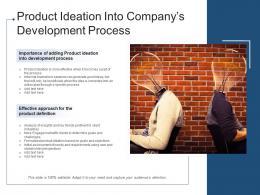 Product Ideation Into Companys Development Process