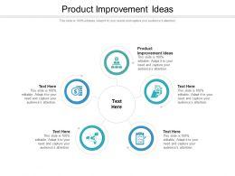 Product Improvement Ideas Ppt Powerpoint Presentation Portfolio Outline Cpb