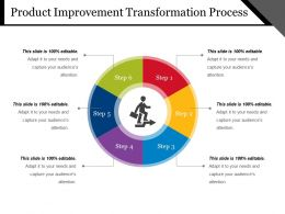 Product Improvement Transformation Process Powerpoint Layout