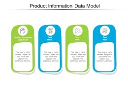 Product Information Data Model Ppt Powerpoint Presentation Show Deck Cpb