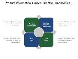 Product Information Limited Creative Capabilities Corporate Marketing Strategy