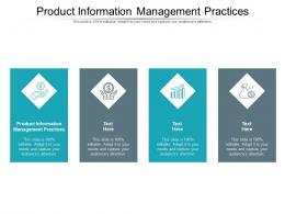 Product Information Management Practices Ppt Powerpoint Presentation Summary Outline Cpb