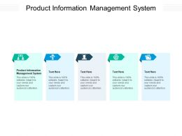 Product Information Management System Ppt Powerpoint Presentation Portfolio Microsoft Cpb