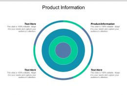 Product Information Ppt Powerpoint Presentation Slides Ideas Cpb