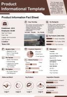 Product Informational Template Presentation Report Infographic PPT PDF Document