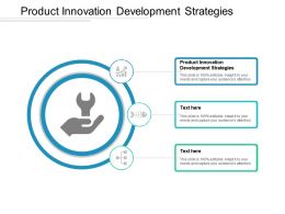 Product Innovation Development Strategies Ppt Powerpoint Presentation Icon Vector Cpb