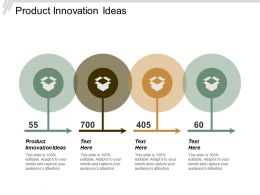 Product Innovation Ideas Ppt Powerpoint Presentation Slides Cpb