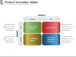 Product Innovation Matrix Ppt Examples Slides
