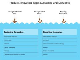 Product Innovation Types Sustaining And Disruptive