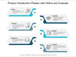 Product Introduction Phases With Define And Evaluate