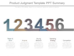 Product Judgment Template Ppt Summary