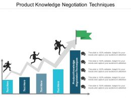 Product Knowledge Negotiation Techniques Ppt Powerpoint Presentation Ideas Clipart Images Cpb