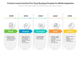 Product Launch Activities Five Years Roadmap Template For Mobile Application
