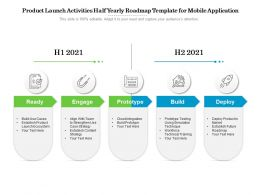 Product Launch Activities Half Yearly Roadmap Template For Mobile Application