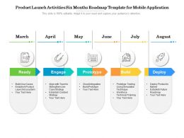 Product Launch Activities Six Months Roadmap Template For Mobile Application
