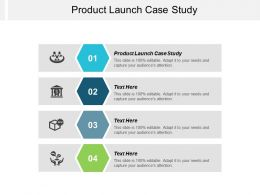 Product Launch Case Study Ppt Powerpoint Presentation Infographics Infographics Cpb