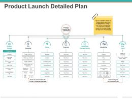 Product Launch Detailed Plan Powerpoint Slide Background Image