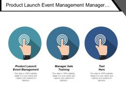 Product Launch Event Management Manager Sale Training Account Management Cpb