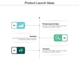 Product Launch Ideas Ppt Powerpoint Presentation Infographics Outline Cpb