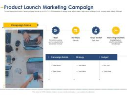 Product Launch Marketing Campaign Developing Integrated Marketing Plan New Product Launch
