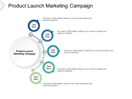 Product Launch Marketing Campaign Ppt Powerpoint Presentation Infographics Inspiration Cpb