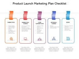 Product Launch Marketing Plan Checklist