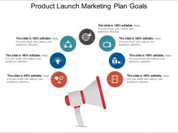 Product Launch Marketing Plan Goals Ppt Examples Slides