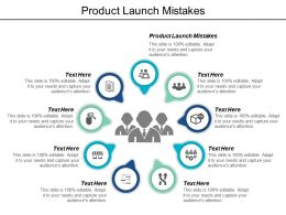 Product Launch Mistakes Ppt Powerpoint Presentation Inspiration Background Image Cpb