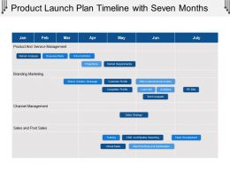 Product Launch Plan Timeline With Seven Months