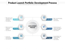 Product Launch Portfolio Development Process