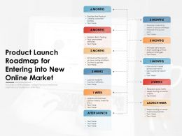 Product Launch Roadmap For Entering Into New Online Market