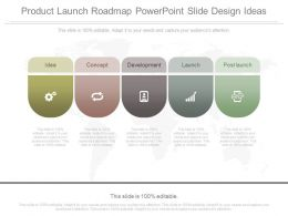 Product Launch Roadmap Powerpoint Slide Design Ideas