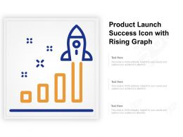 Product Launch Success Icon With Rising Graph
