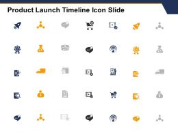 Product Launch Timeline Icon Slide Checklist L129 Ppt Powerpoint Show