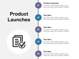 Product Launches Ppt Powerpoint Presentation Slides Designs Download Cpb