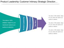 Product Leadership Customer Intimacy Strategic Direction Organizational Arrangement