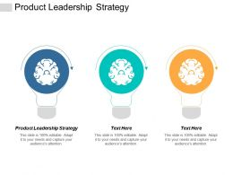 Product Leadership Strategy Ppt Powerpoint Presentation Icon Visual Aids Cpb