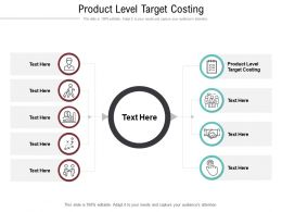 Product Level Target Costing Ppt Powerpoint Presentation Inspiration Diagrams Cpb