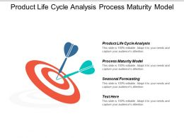 Product Life Cycle Analysis Process Maturity Model Seasonal Forecasting Cpb