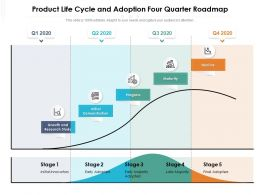 Product Life Cycle And Adoption Four Quarter Roadmap