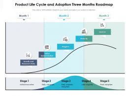 Product Life Cycle And Adoption Three Months Roadmap
