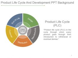 Product Life Cycle And Development Ppt Background