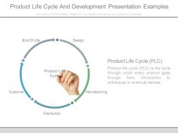 Product Life Cycle And Development Presentation Examples