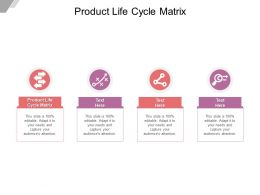 Product Life Cycle Matrix Ppt Powerpoint Presentation Infographic Example Cpb