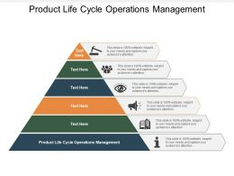 Product Life Cycle Operations Management Ppt Powerpoint Presentation Slides Summary Cpb