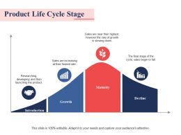 Product Life Cycle Stage Ppt Professional Slide Download