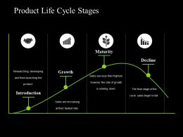Product Life Cycle Stages Ppt Sample Presentations
