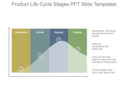 Product Life Cycle Stages Ppt Slide Templates