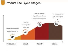 Product Life Cycle Stages Presentation Visual Aids